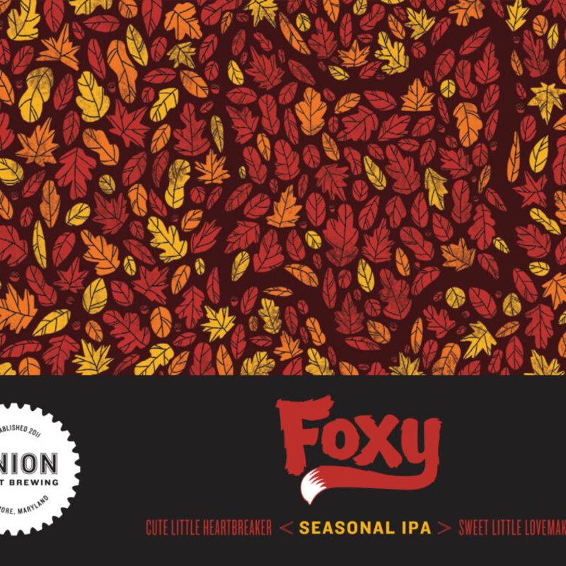 "Union Brewing ""Foxy"" Seasonal Red IPA 6-Pack"