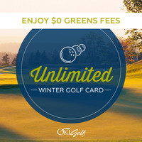 Trophy Lake Unlimited Winter Golf Card