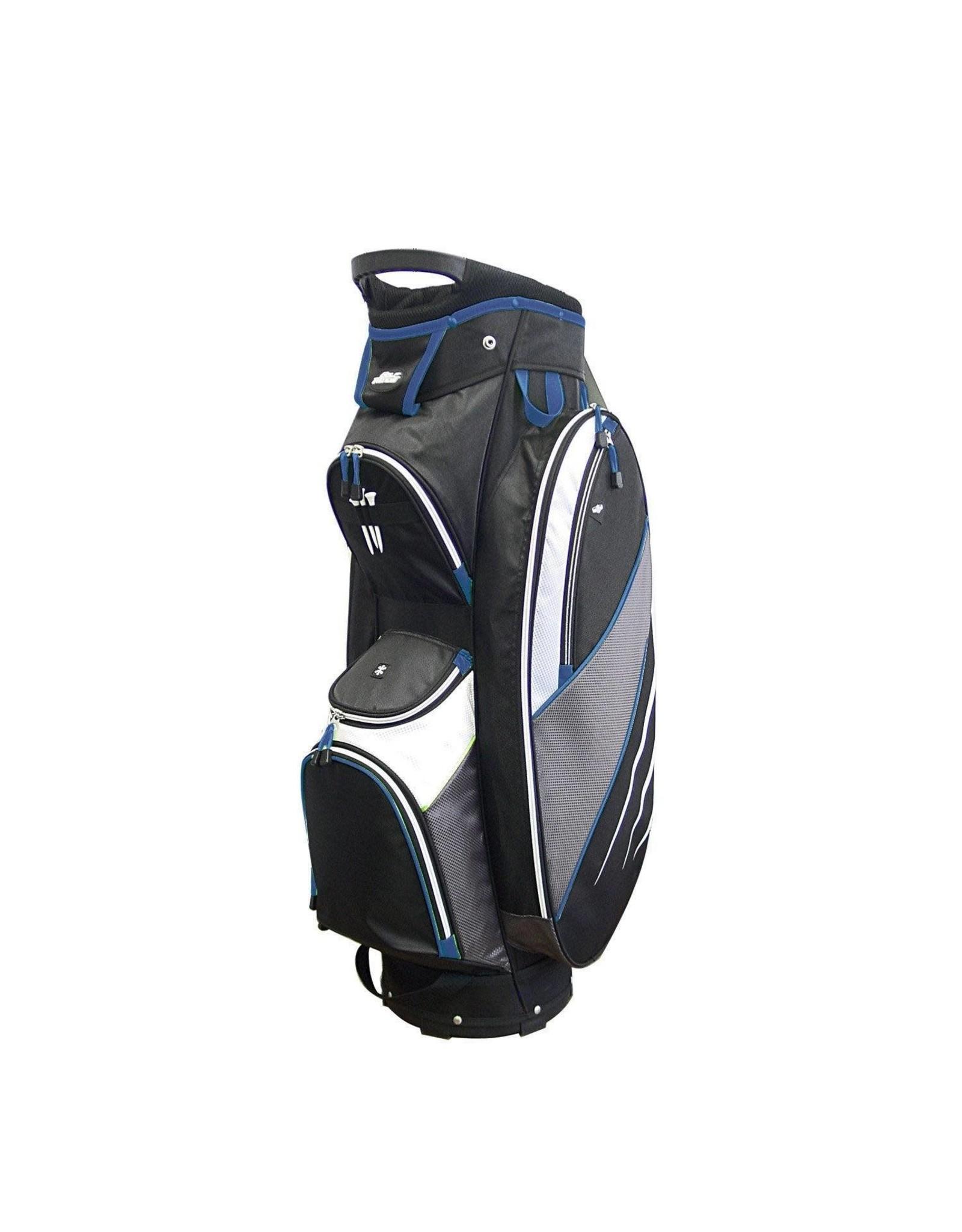 Golf Trends Bandon Golf Bag - Black/Grey/Royal