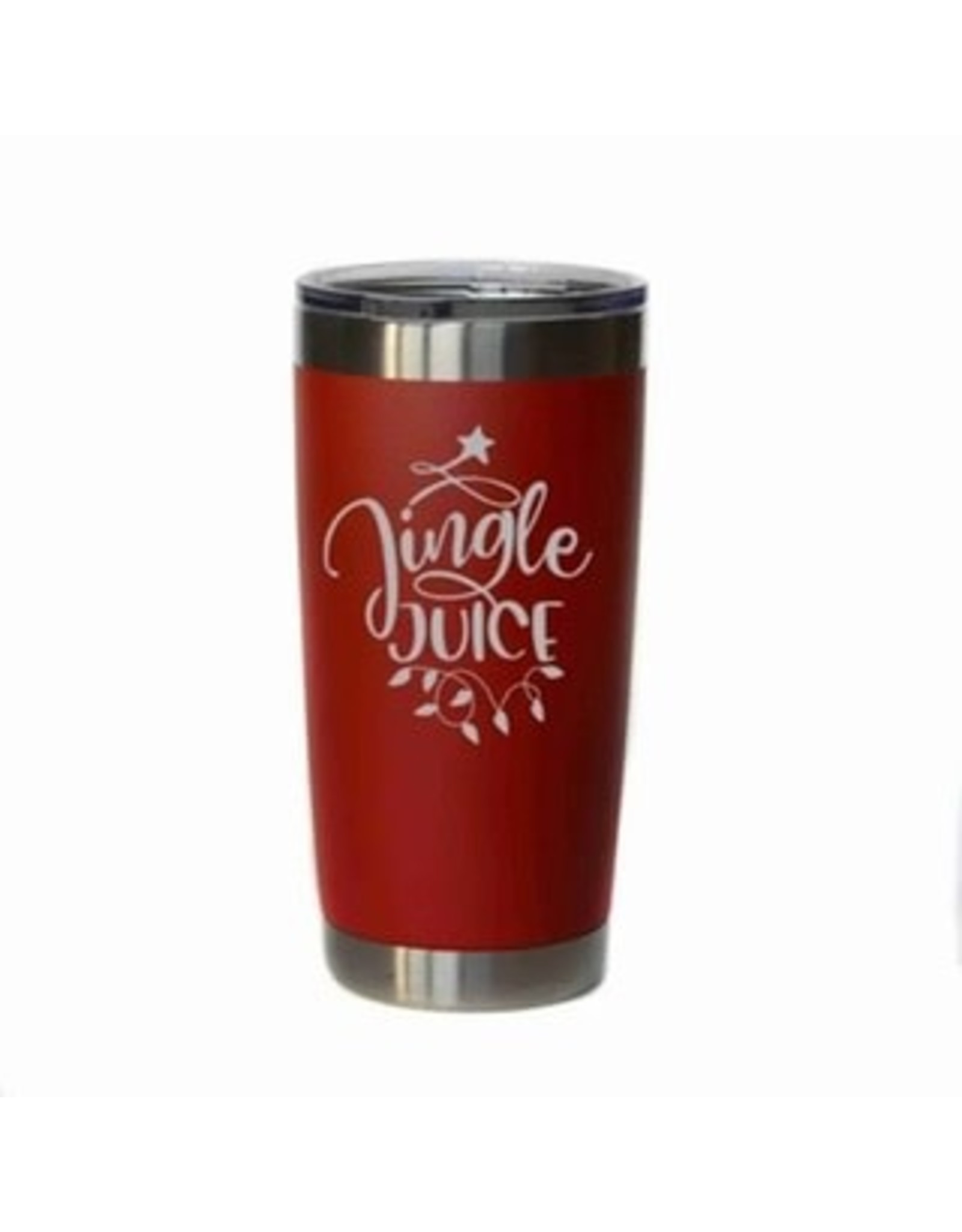 "20 oz. Red Tumbler - ""Jingle Juice"""