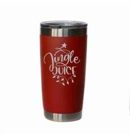 "20 oz. Red Tumbler - ""Jingle Juice"""