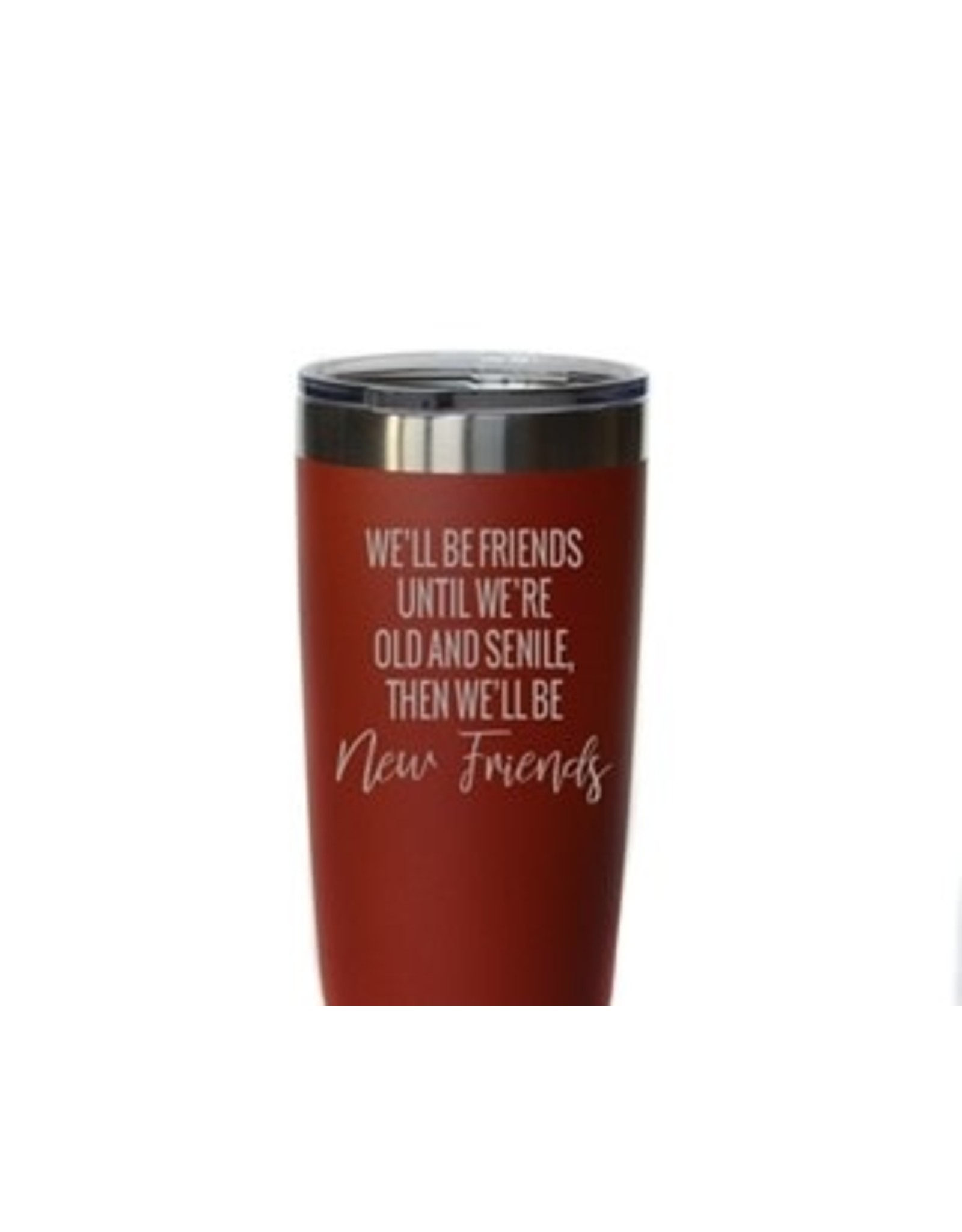 "20 oz. Red Tumbler - ""Old and Senile"""