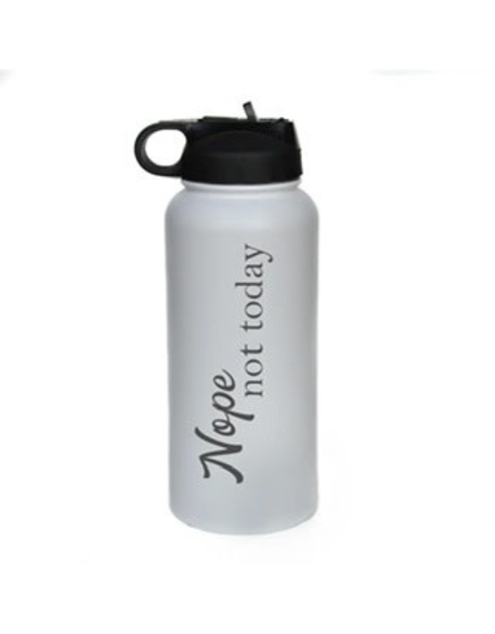 "32 oz. Black Water Bottle - ""Nope Not Today"""