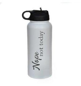 "32 oz. Black Water Bottle - ""Nope Not Today"""