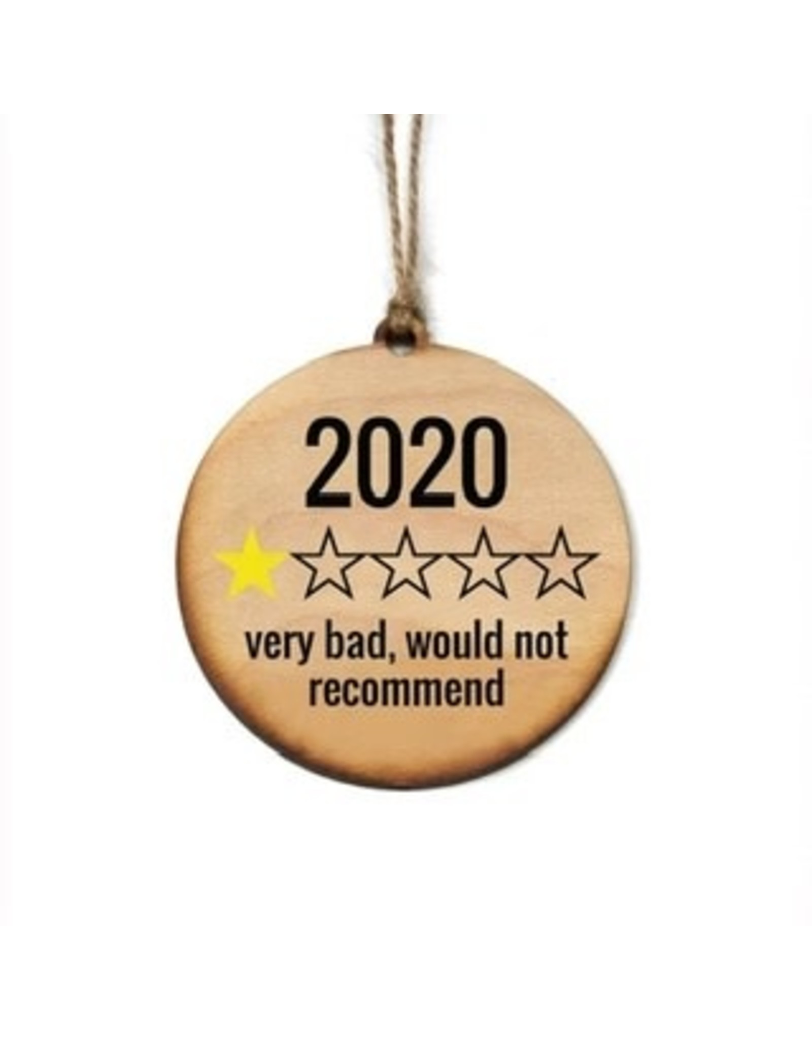 Wooden Christmas 2020 Rating Ornament