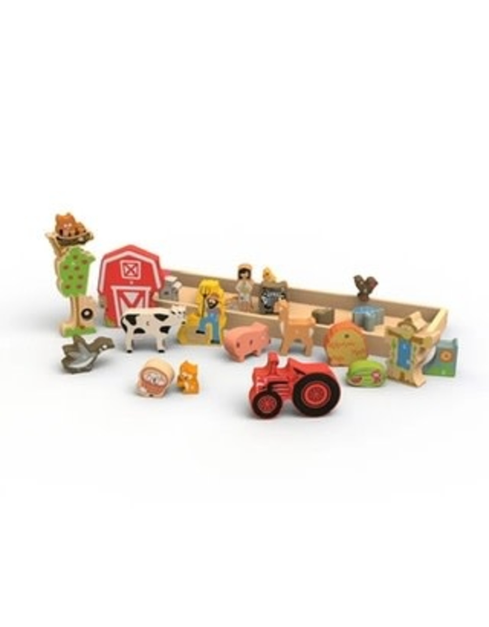 Wooden Farm A to Z Puzzle and Playset