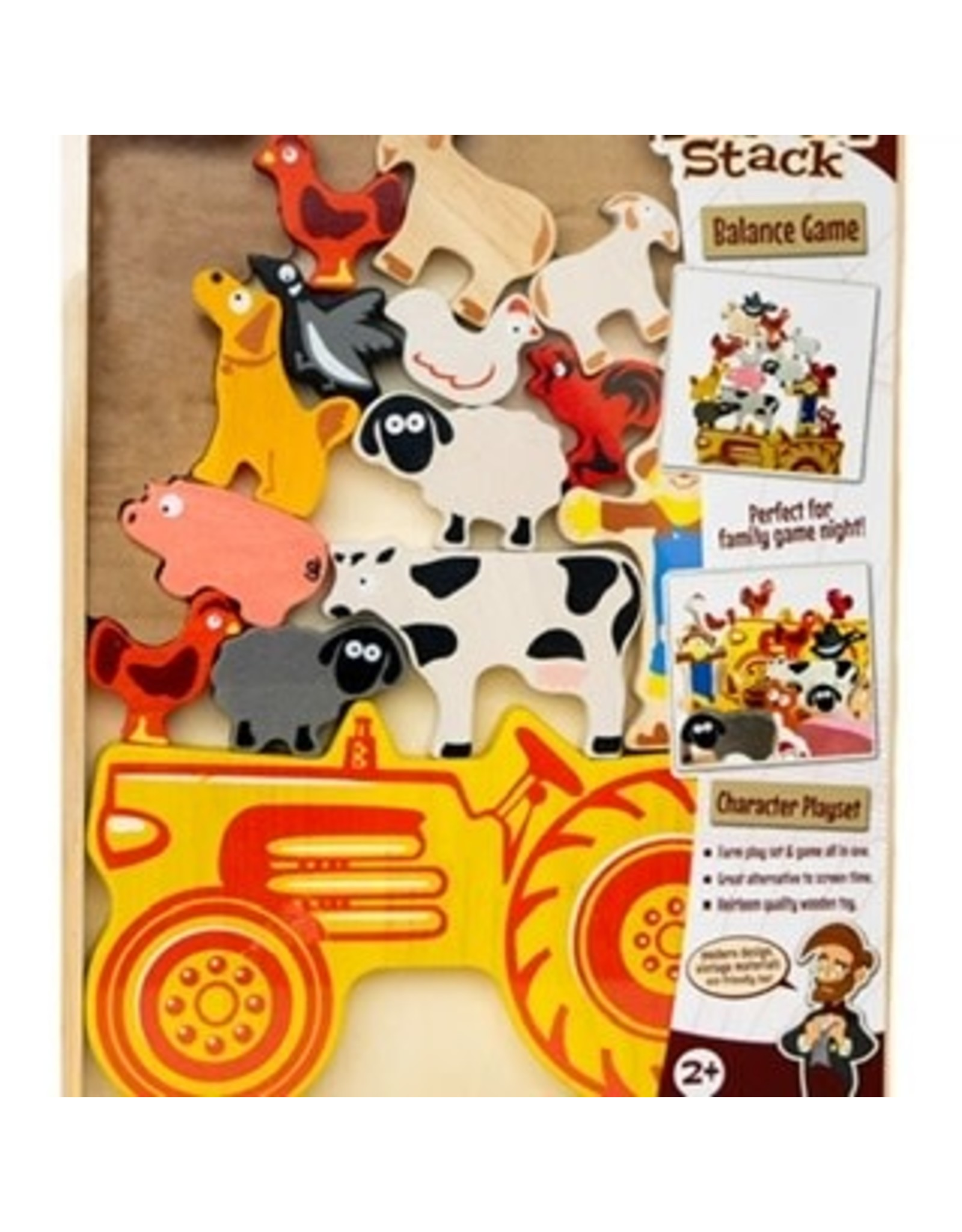 Wooden Tractor Stacker Game