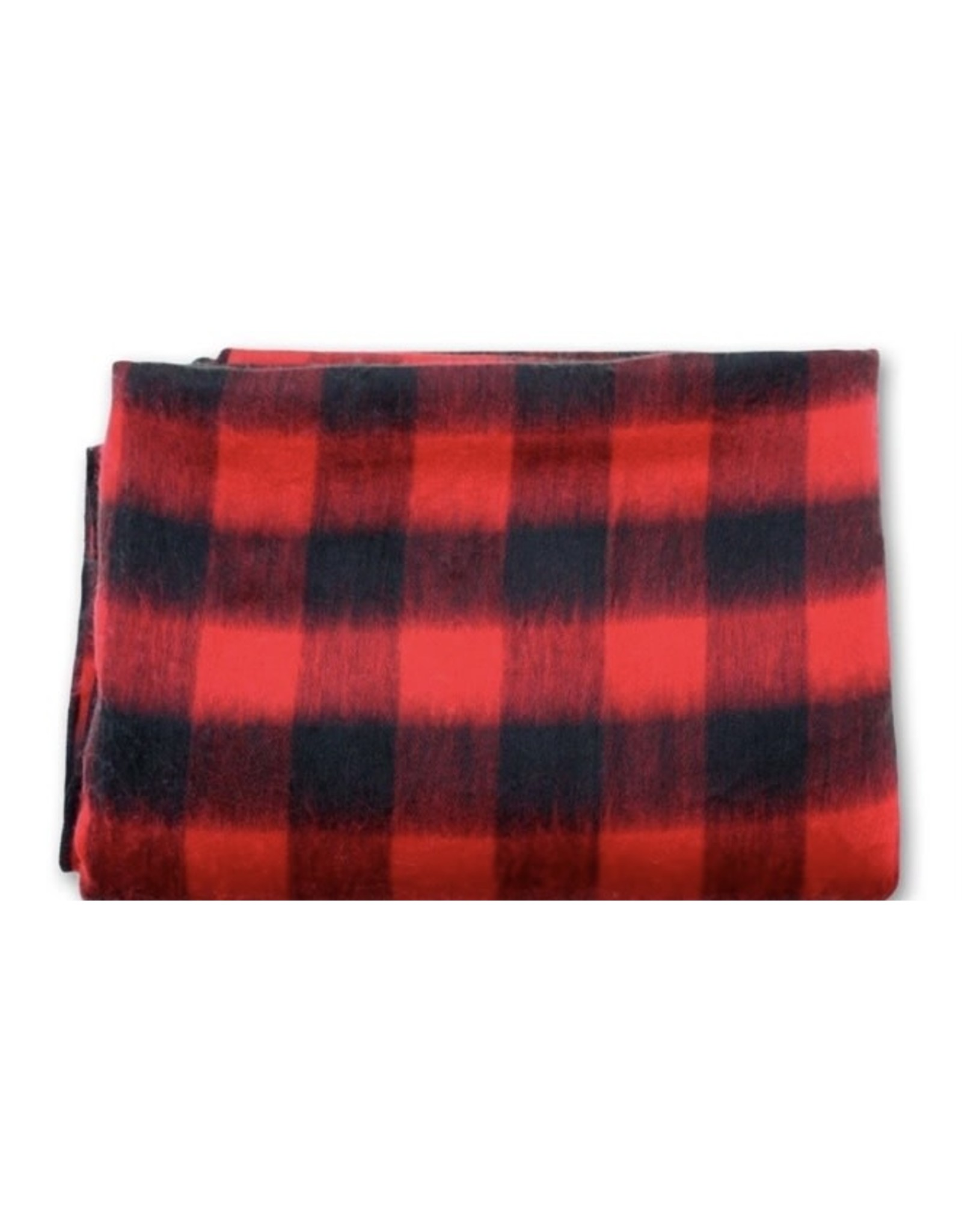 "70"" x 94"" Buffalo Plaid Alpaca Bed Blanket"