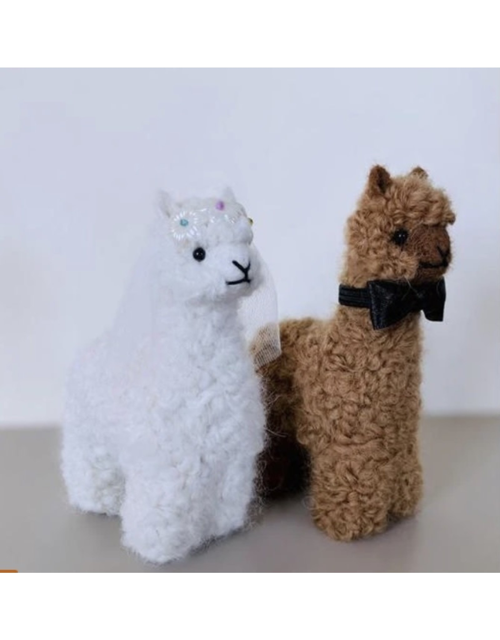 "5"" Bride and Groom Baby Alpaca Plush Set"