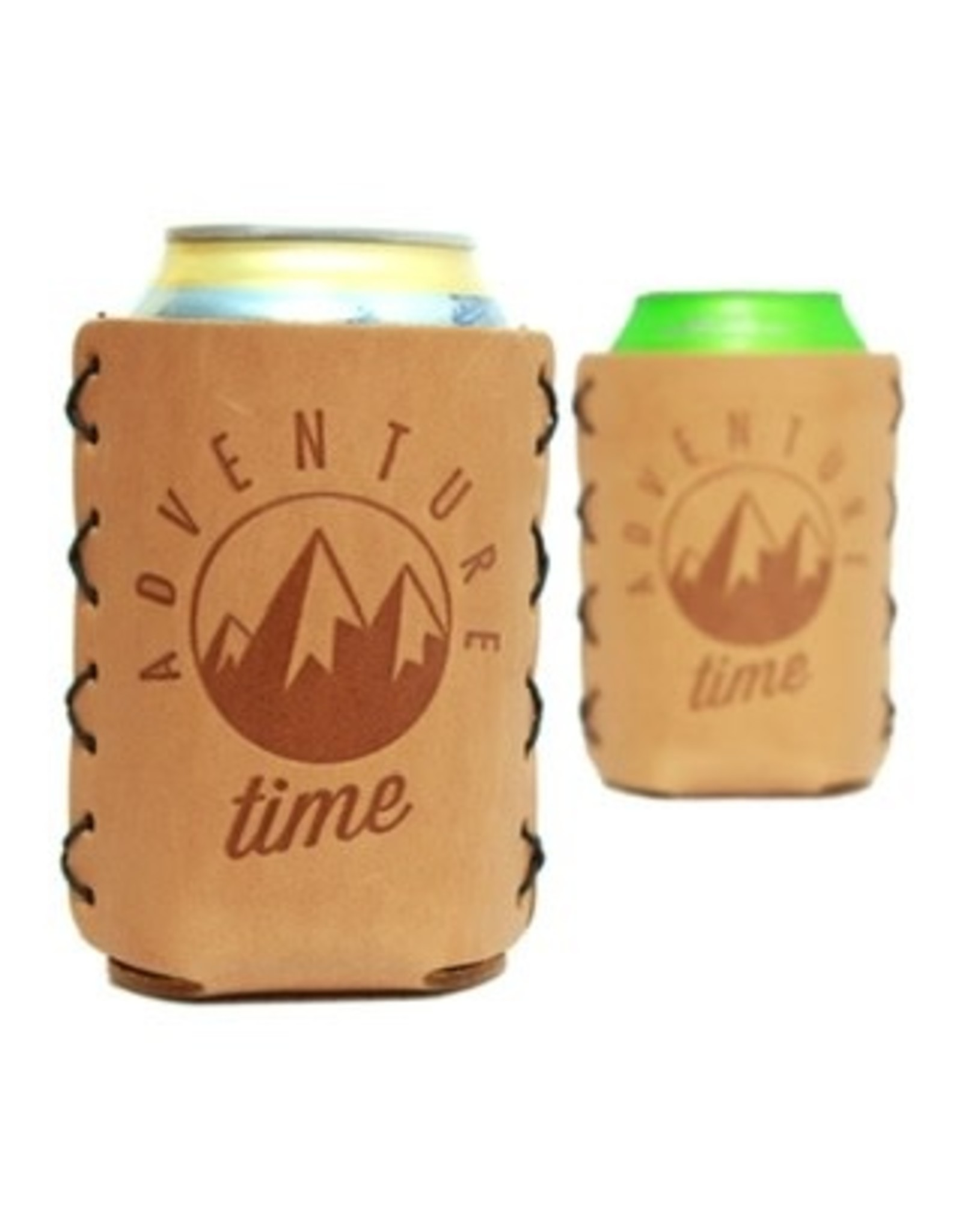 """Leather 12 oz. Can Holder - """"Adventure Time"""""""
