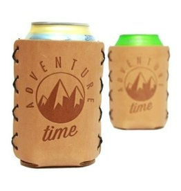 "Leather 12 oz. Can Holder - ""Adventure Time"""