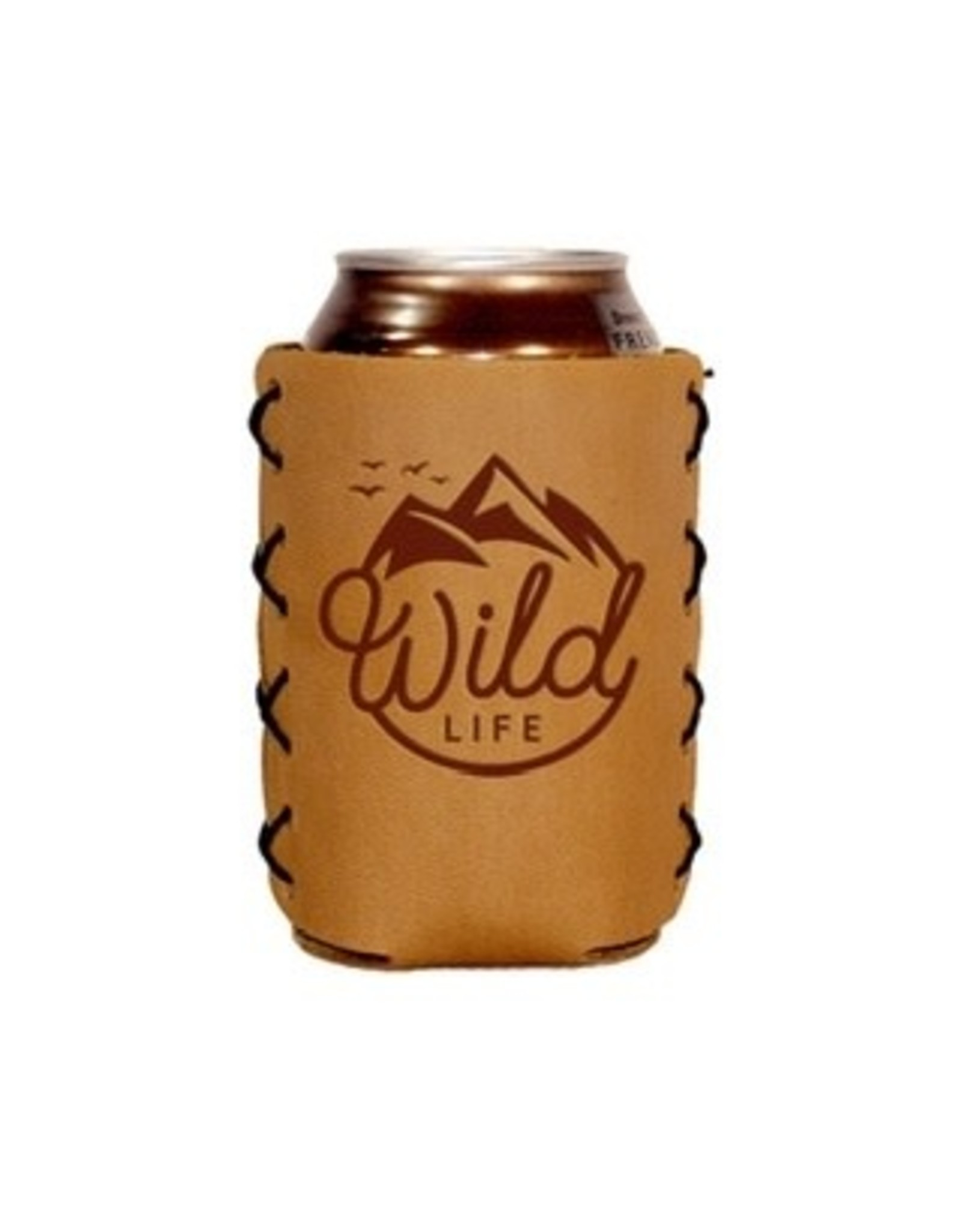 "Leather 12 oz. Can Holder - ""Wild Life"""