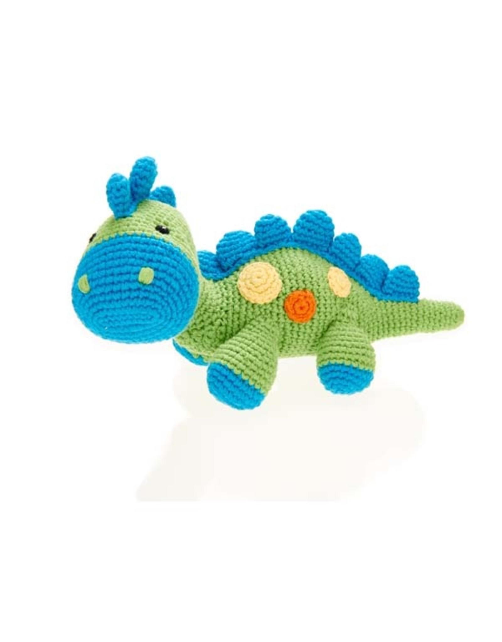 Dinosaur Rattle - Steggy - Green