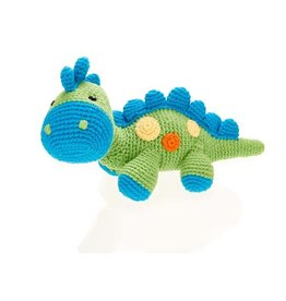 Dinosaur Rattle - Steggy - Green