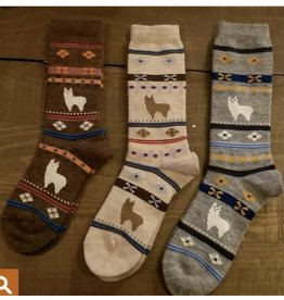 Alpaca Watching Socks - Adult