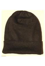 Black Iditarod 100% Alpaca Beanie Hat