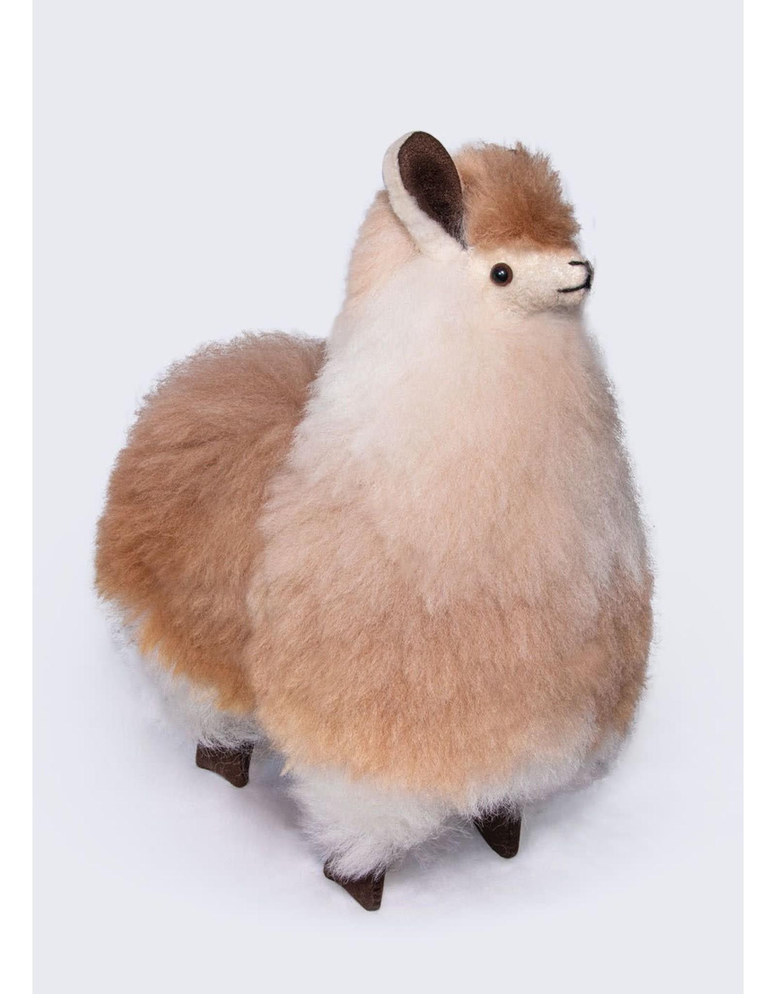 "12"" Standing Fur Alpaca Plush"
