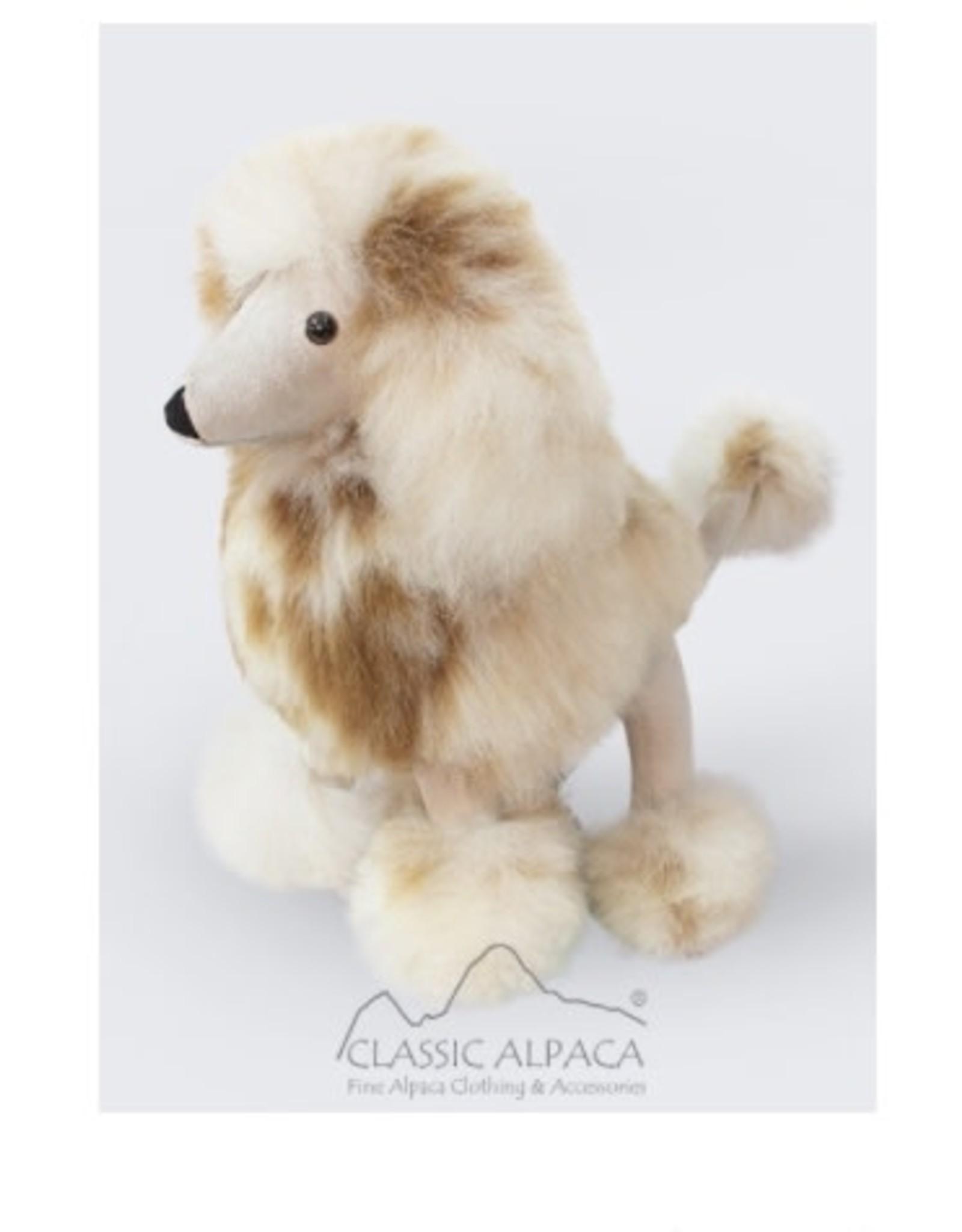 """13"""" Baby Alpaca Fur Poodle Dog"""