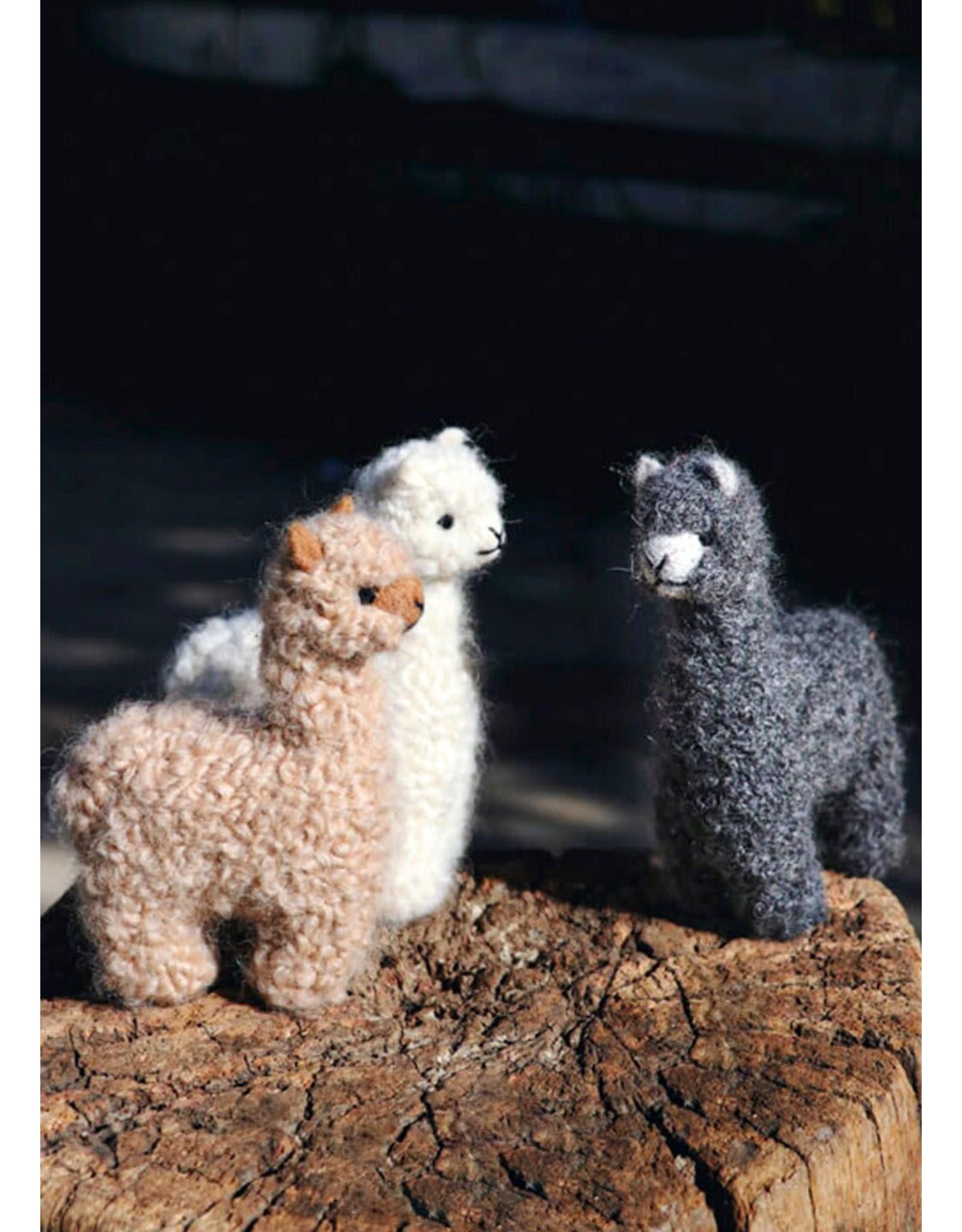 """5"""" Needle Felted Baby Alpaca Plush"""