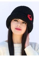 Black - Boucle Alpaca Hat