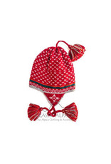 Red Winter Alpaca Hat With Ear Flaps - Adult