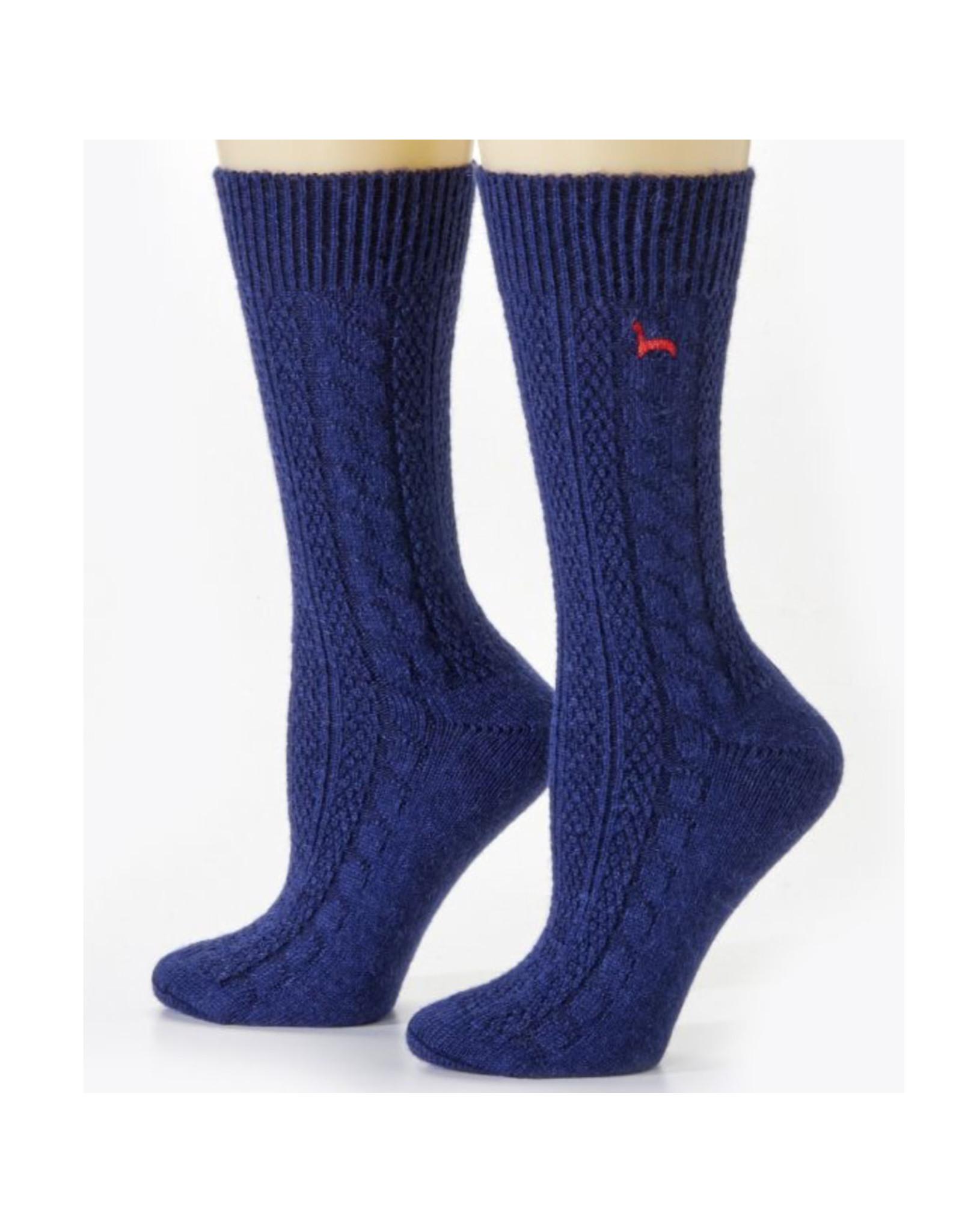 Cable Dress Alpaca Socks