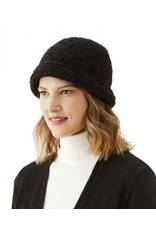 Light Weight Black Boucle Hat