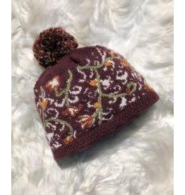 Vail Burgundy Alpaca Hat