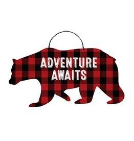 Buffalo Check Bear Tin Sign
