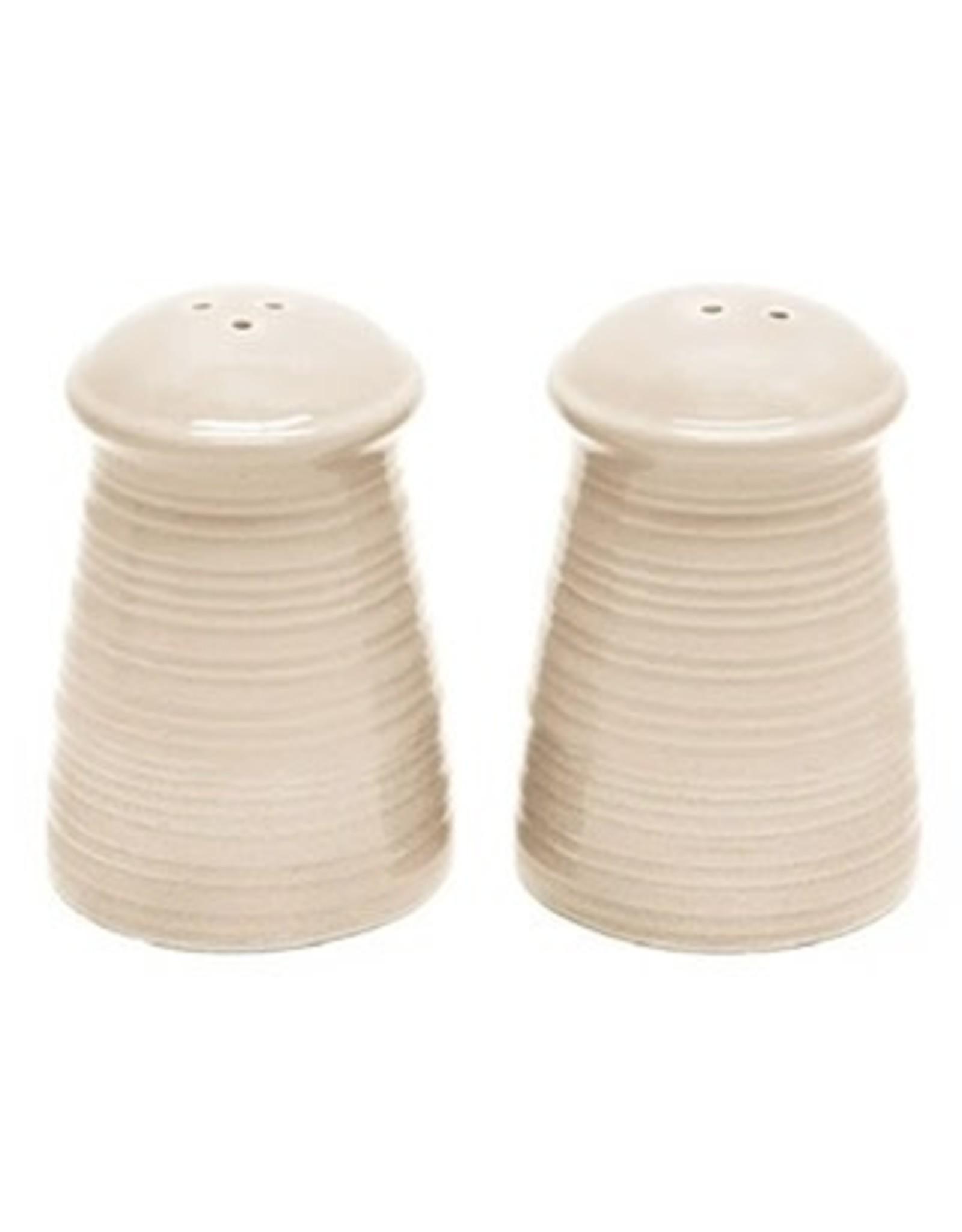 Ceramic - Cream  Salt and Pepper Set