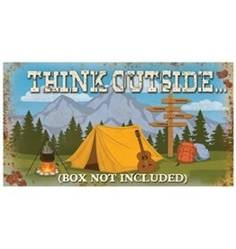 Horizontal Tin Sign - Think Outside The Box