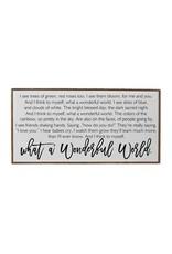 "32"" x 16"" ""What a Wonderful World"" Horizontal Wall Art"