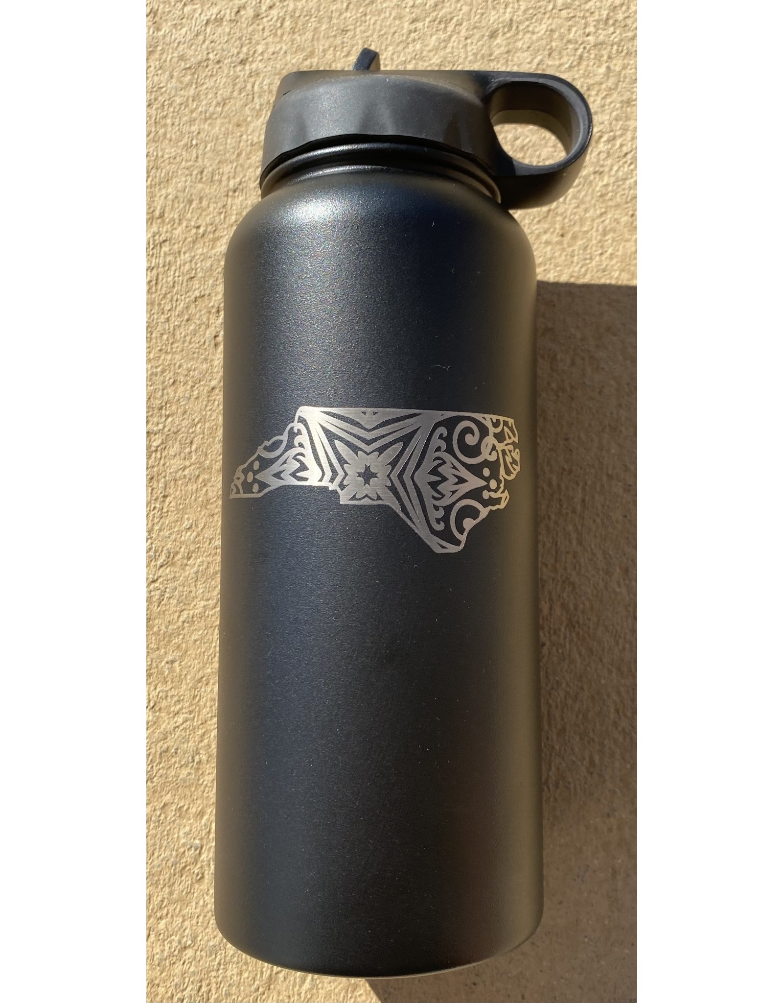 32 oz. Black Water Bottle - NC