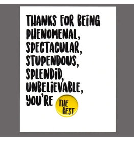 "Greeting Card - ""Thanks for Being Phenomenal"""