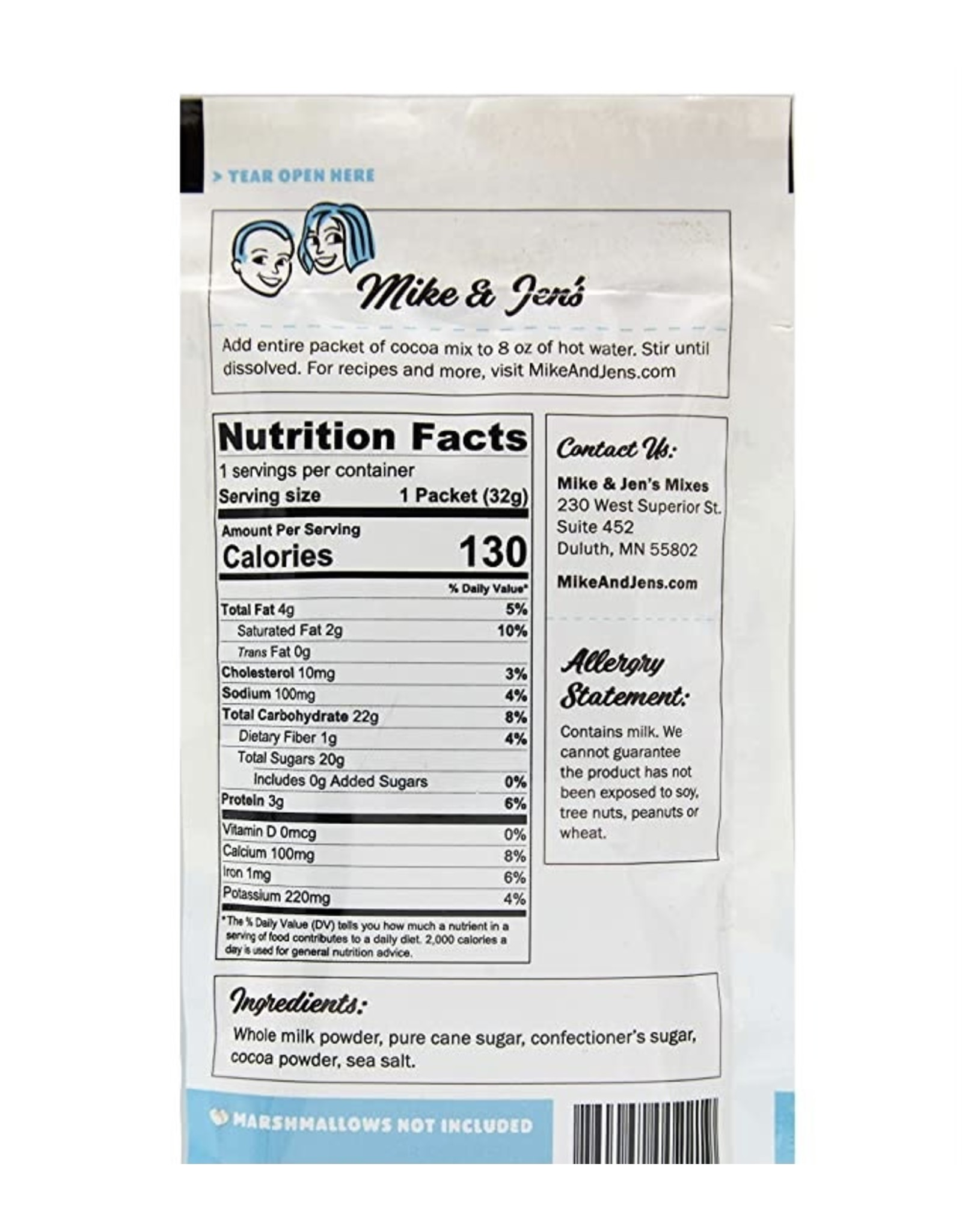 Mike & Jen's Cocoa Mix - Individual Pack