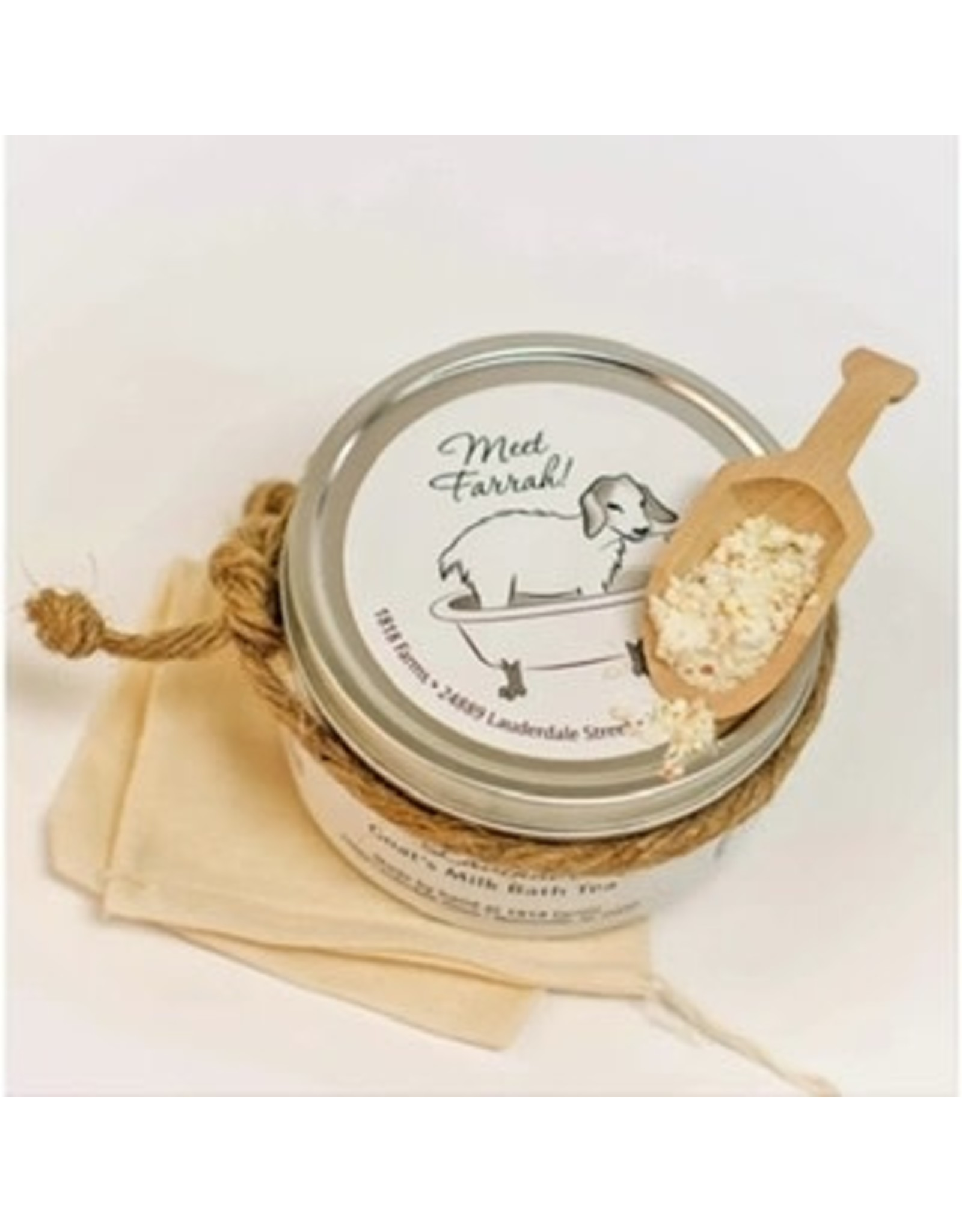 1818 Farms Lavender Goat's Milk Bath Tea Tin