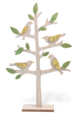 Wooden Springtime Birds in a Tree