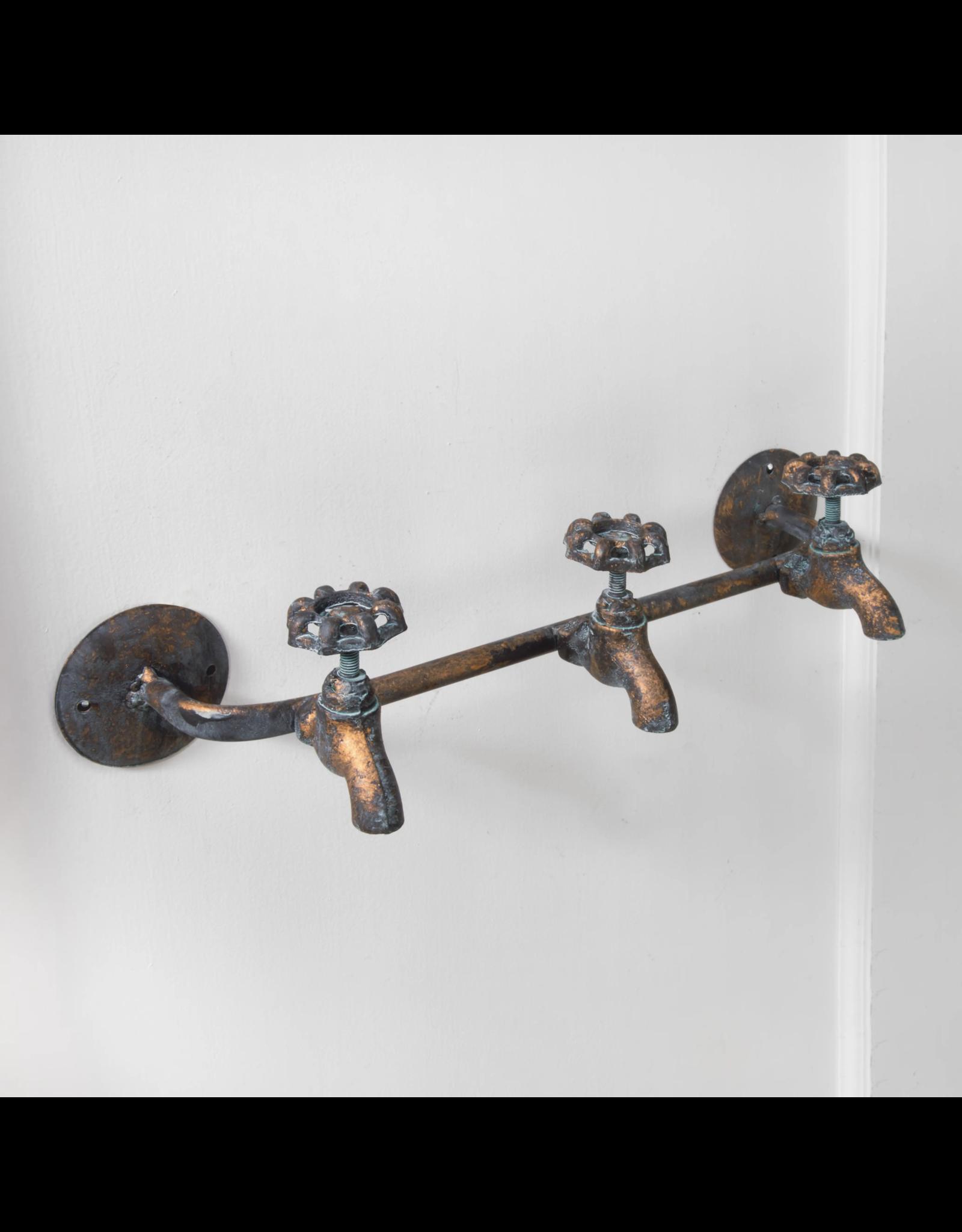 3 Knob Water Spigot Wall Hook