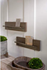 Wood Shelf with Metal Ledge