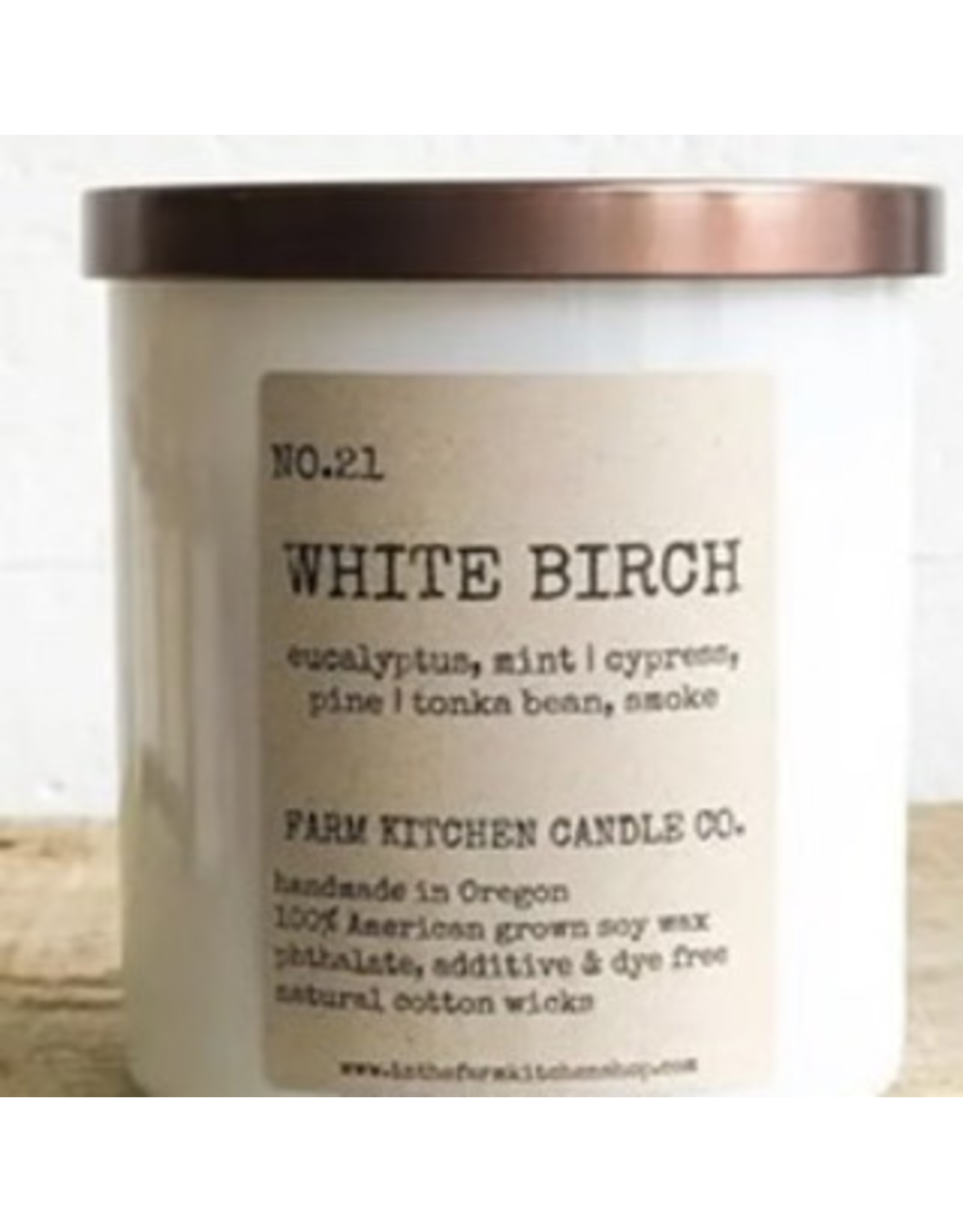 White Birch Soy Candle - White