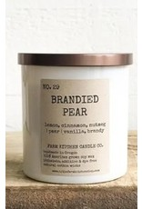 Brandied Pear Soy Candle - White