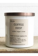 Coffee Shop Soy Candle - White