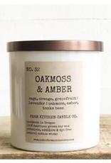 Oakmoss & Amber Soy Candle - White