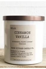 Cinnamon Vanilla Soy Candle - White