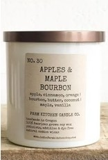Apple & Maple Bourbon Soy Candle - White