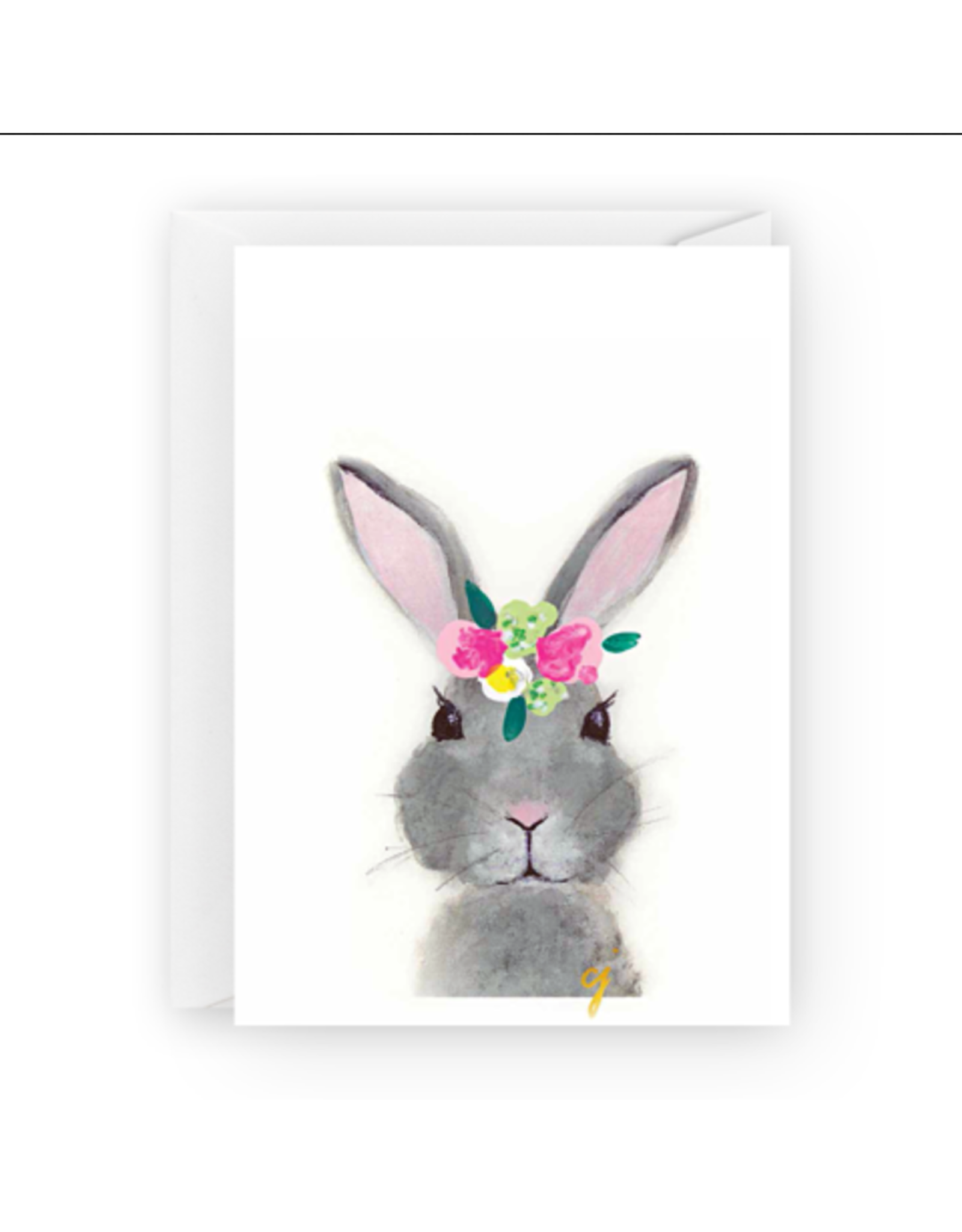 Floral Bunny Greeting Card