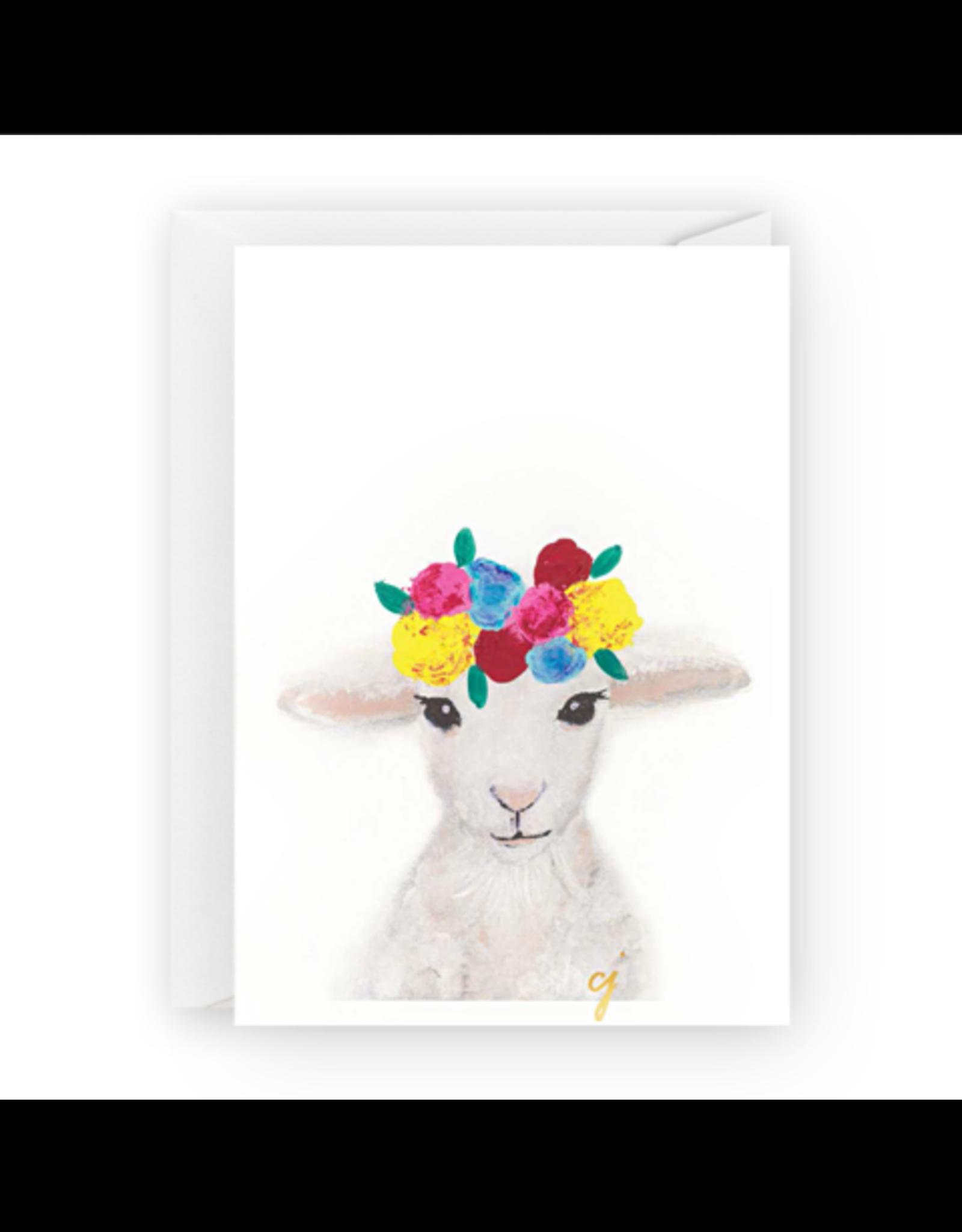 Floral Lamb Greeting Card
