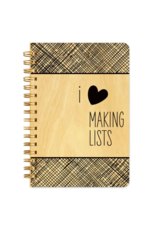 Making Lists Wood Notebook