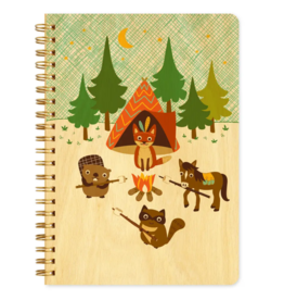 Camping Critters Wood Journal