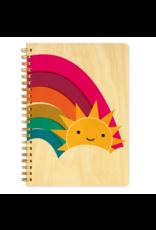 Happy Sun Wood Journal